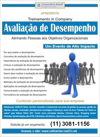 treinamento avaliao de desempenho